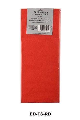 10 Sheet Tissue Paper Red